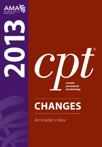 9781603596855: CPT Changes 2013: An Insider's Vies (Current Procedural Terminology (CPT) Changes)