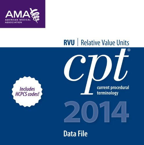 9781603598477: CPT/RVU 2014 Data Files 2-10 Users