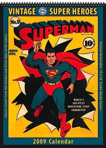 9781603682091: DC Comics Super Heroes 2009 Vintage Calendar