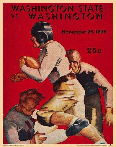 Washington vs Washington State '36 Poster: Asgard Press