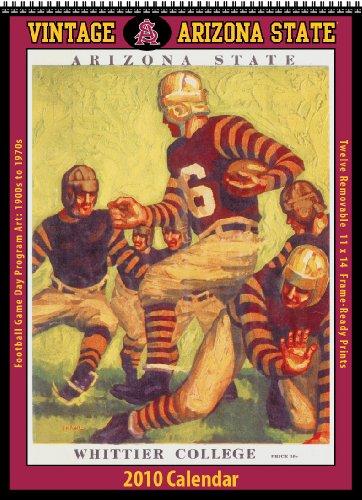9781603683074: Vintage Arizona State Sun Devils 2010 Football Program Calendar