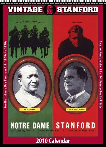 9781603683654: Vintage Stanford Cardinals 2010 Football Program Calendar