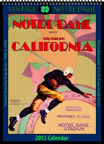 9781603685979: Notre Dame Fighting Irish 2012 Vintage Football Calendar
