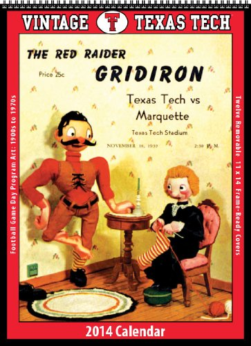 9781603688758: Texas Tech Red Raiders 2014 Vintage Football Calendar