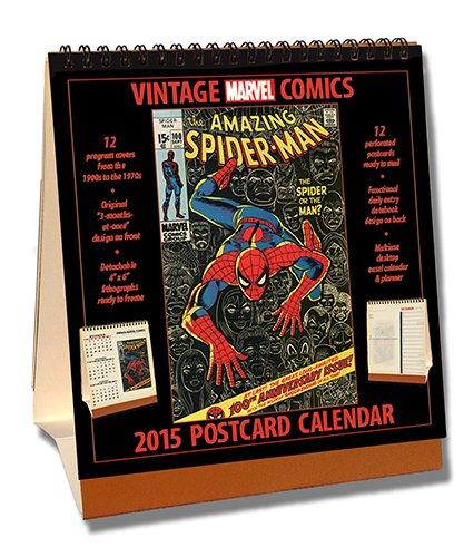 9781603689205: Vintage Marvel Comics 2015 Easel Desktop Calendar