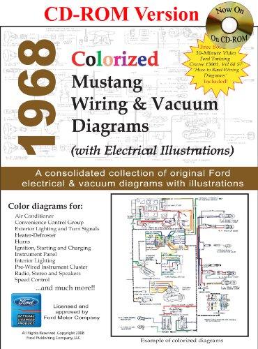 9781603710275: 1968 Colorized Mustang Wiring & Vacuum Diagrams