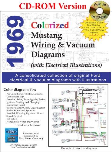 9781603710282: 1969 Colorized Mustang Wiring & Vacuum Diagrams