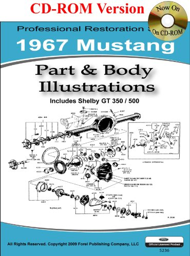 1967 Mustang Part And Body Illustrations By Ford Motor