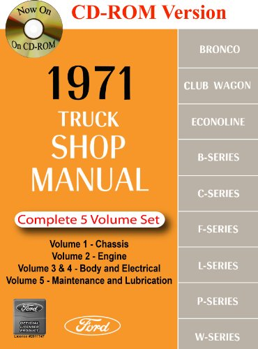 1971 Ford Truck Shop Manual: Ford Motor Company