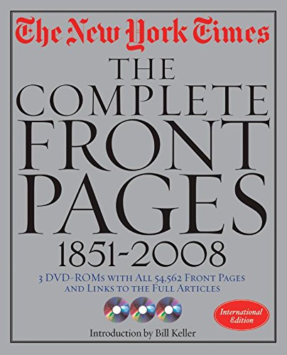 The Complete Front Pages 1851-2009: the new York Times: Black Dog & Leventhal Publishers