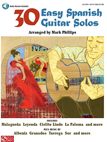 9781603780599: 30 Easy Spanish Guitar Solos Guitare +Enregistrements Online (Book & CD)