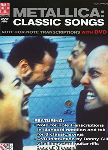 9781603783217: Metallica: Classic Songs for Guitar: Note-for-Note Transcriptions with DVD