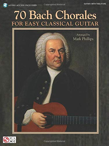 9781603783804: J.S. Bach: 70 Bach Chorales For Easy Classical Guitar (Book & CD)