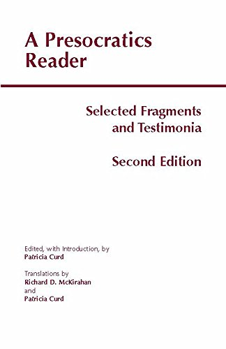 9781603843058: A Presocratics Reader: Selected Fragments and Testimonia (Hackett Classics)