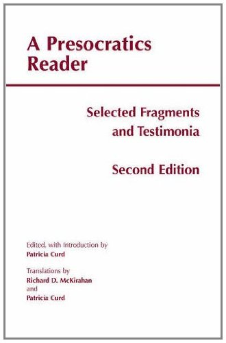 9781603843065: A Presocratics Reader: Selected Fragments and Testimonia (Hackett Classics)