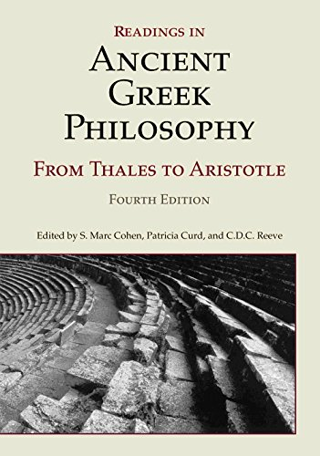 9781603844628: Readings in Ancient Greek Philosophy: from Thales to Aristotle
