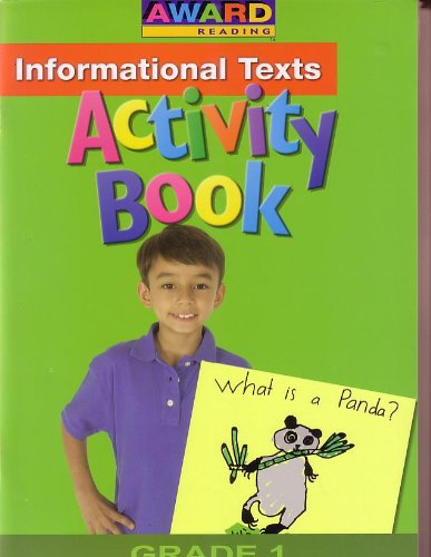 9781603851923: Award Reading Activity Book 3 -Information Texts (Grade 1)