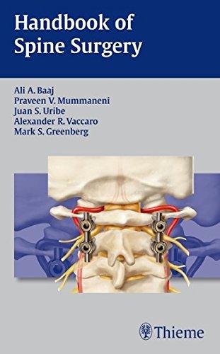 9781604064193: Handbook of Spine Surgery