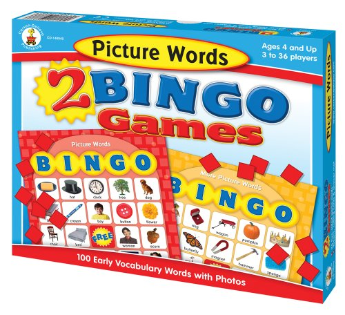 9781604180244: Picture Words 2 Bingo Games [With 32 Two-Sided Game Cards and Tokens, Calling Cards, Answer Mat]