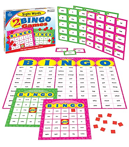 9781604180251: Sight Words: 2 Bingo Games [With 2-Sided Game Cards, Calling Cards and Tokens and Answer Mat]