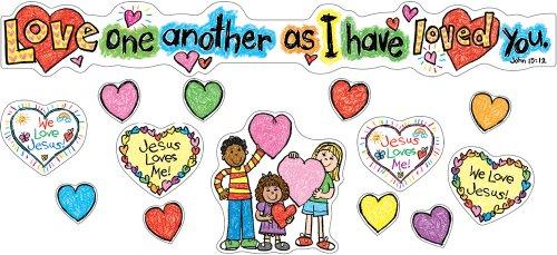 9781604181081: Love One Another Mini Bulletin Board Set
