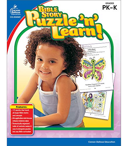 9781604181111: Bible Story Puzzle 'n' Learn!, Grades PK - K
