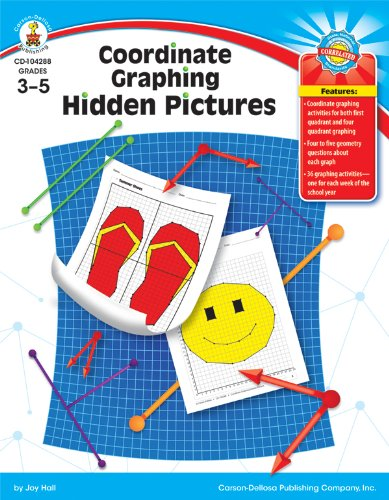 9781604181357: Coordinate Graphing Hidden Pictures, Grades 3 - 5