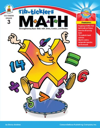 9781604181401: Math, Grade 3: Strengthening Basic Skills with Jokes, Comics, and Riddles (Rib-Ticklers)