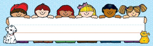 Kids 9781604182040 These convenient, nameplates are ideal for desk or cubby assignments, labels, work recognition, bookmarks and more! Each pack features 3