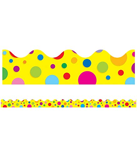 9781604186833: Colorful Dots Scalloped Borders