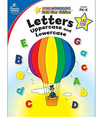 9781604187571: Letters: Uppercase and Lowercase, Grades PK - K: Gold Star Edition (Home Workbooks)