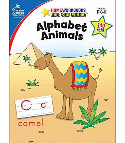 9781604187601: Alphabet Animals, Grades PK - K: Gold Star Edition (Home Workbooks)
