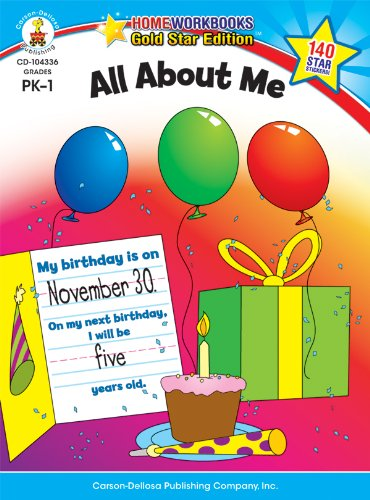 9781604187670: All About Me, Grades PK - 1: Gold Star Edition (Home Workbooks)