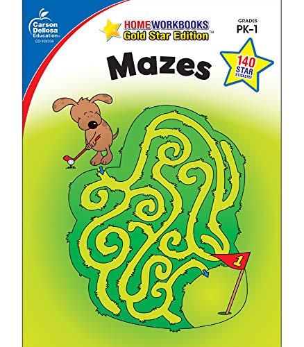 9781604187694: Mazes, Grades PK - 1: Gold Star Edition (Home Workbooks)