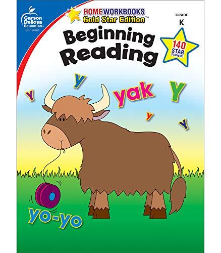 9781604187731: Beginning Reading, Grade K: Gold Star Edition (Home Workbooks)