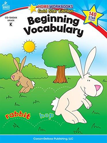 9781604187755: Beginning Vocabulary, Grade K: Gold Star Edition (Home Workbooks)