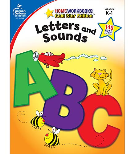 9781604187793: Letters and Sounds, Grades K - 1: Gold Star Edition (Home Workbooks)