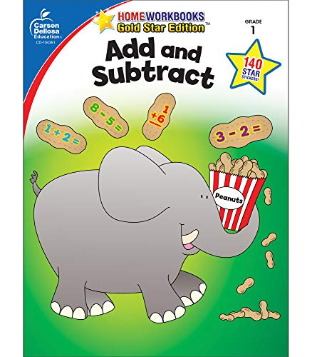 9781604187922: Add and Subtract, Grade 1: Gold Star Edition (Home Workbooks)