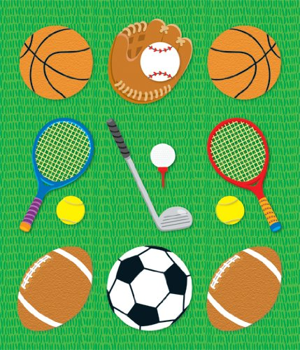 Sports 9781604189759 Perfect for reward or recognition, each prize pack of these acid-free and lignin-free stickers includes 24 sheets of 9 stickers each for a total of 216 stickers! Each sticker measures approx. 1  x 1  and they are available in a wide variety of colors and shapes to suit any classroom theme!