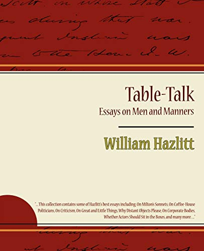 9781604245660: Table-Talk, Essays on Men and Manners