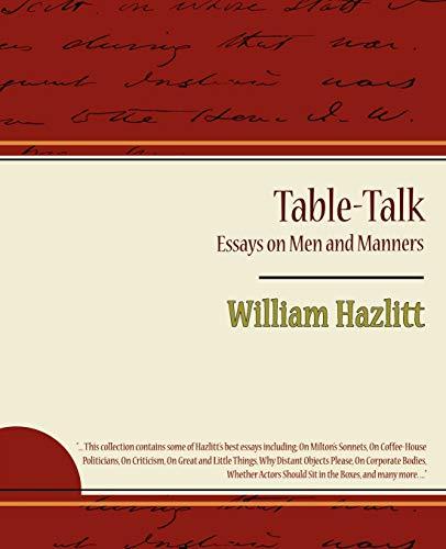 selected essays of william hazlitt