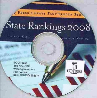 9781604262674: State Rankings 2008: With Data (State Rankings (CD-ROM))