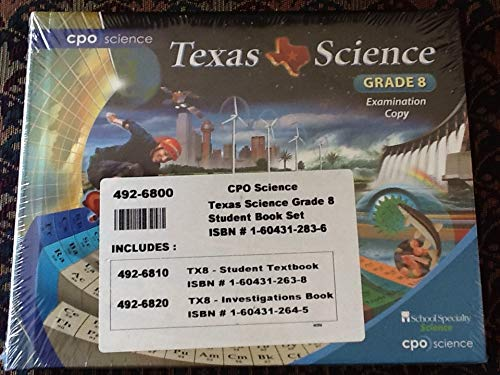 9781604312836: CPO Science Texas Science Grade 8 Student Book set, 2 books