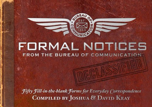 9781604331325: Formal Notices: Fifty Fill-in-the-Blank Forms for Everyday Correspondence