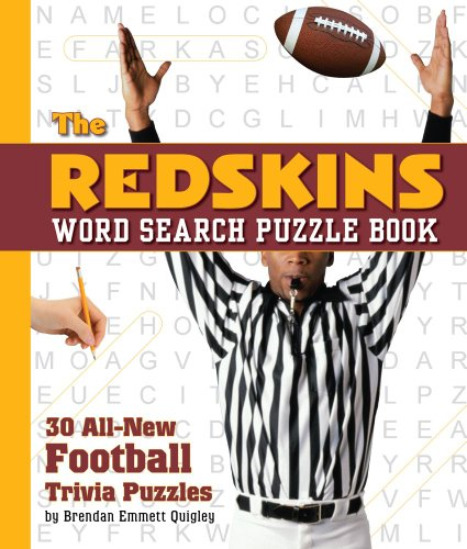 The Redskins Word Search Puzzle: 30 All New Football Trivia Puzzles: Cider Mill Press