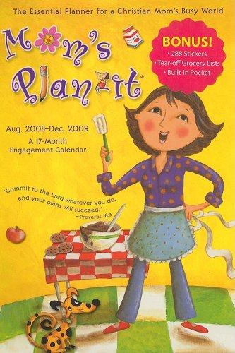 9781604344158: Mom's Plan-It: A 17-Month Engagement Calendar: Aug. 2008-Dec. 2009