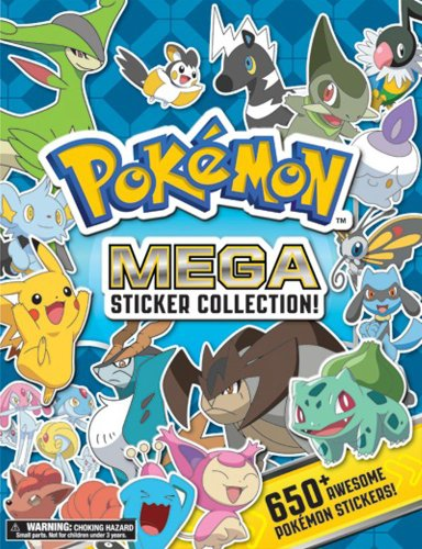 Pokemon Mega Sticker Collection (Pokemon Pikachu Press) 9781604381764 A Pokemon sticker book with a deluxe flexi-bind cover containing over 650 full color stickers of Pokemon from every region. An incredibl