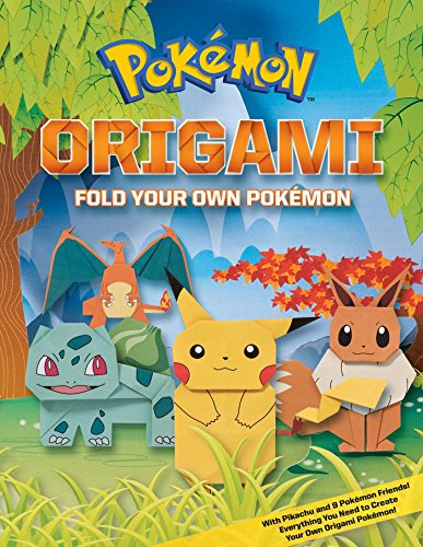 Pokemon Origami: Fold Your Own Pokemon! (Paperback) 9781604381832 Turn your favorite Pokémon into folded art with the easy origami projects in Pokémon Origami: Fold Your Own Pokémon! 80 full color pages featuring 48 pages of instructions and all the special sheets of origami paper needed to complete 10 Pokémon! Folding Fun for Everyone! Pokémon Origami: Fold Your Own Pokémon offers a dozen new ways to play with the Pokémon you love best! In these detailed pages, you get the full how-to guide including: Simple step-by-step origami walthroughs * All the materials necessary to complete your 10 Pokémon, including special sheets of origami paper *Helpful full-color examples of all the finished origami Pokémon * Tips and tricks to keep your Pokémon looking extra sharp!