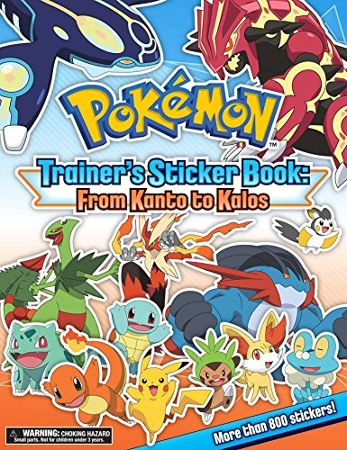 9781604381863: Pokémon Trainer's Sticker Book: From Kanto to Kalos