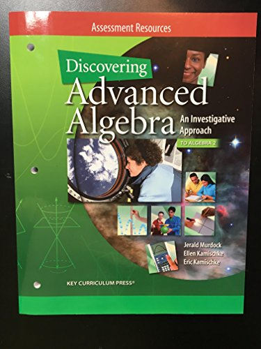 9781604400069: Discovering Advanced Algebra, An Investigative Approach, to Algebra 2 Assessment Resources